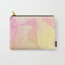 Pink Seahorse Carry-All Pouch