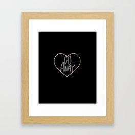 Go Away 2 Framed Art Print