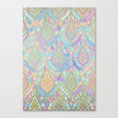 Jade & Blue Enamel Art Deco Pattern Canvas Print