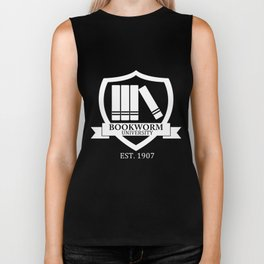 Bookworm University - Inverted Biker Tank