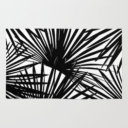 Tropical Fan Palm Leaves #2 #tropical #decor #art #society6 Rug