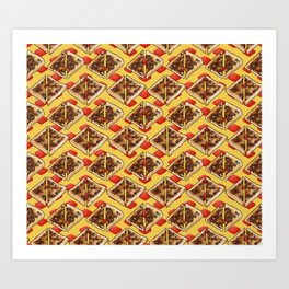All the Vegemite on Toast, Yellow and Red Art Print
