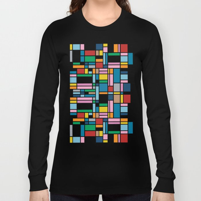 Map Outline Long Sleeve T-shirt