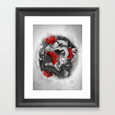 Two dragons Framed Art Print