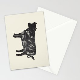 Beef Butcher Diagram Stationery Cards