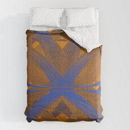 Cyril Orange & Blue dpa150607.a3 Comforters