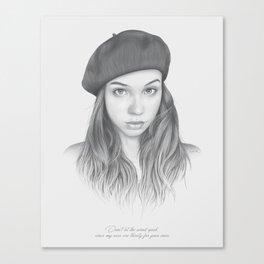 """""""Voice"""" Woman Portrait Canvas Print"""