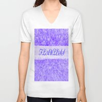 flawless V-neck T-shirts featuring FLAWLESS by Saundra Myles