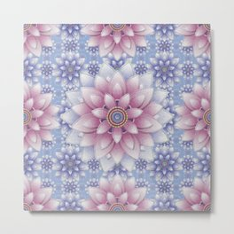 Embroidered Rose Quartz & Serenity Metal Print