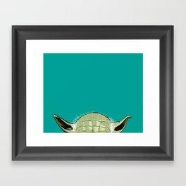SHORTYoda [Blue] Framed Art Print