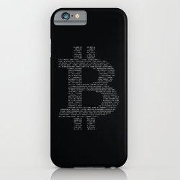 Bitcoin Binary Black iPhone Case
