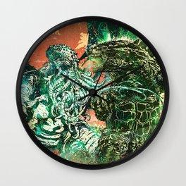 Cthulhu vs Godzilla Wall Clock