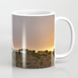 Mae Soberana Church Welcoming Sunset in Loule Coffee Mug