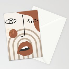 Madame red lips Stationery Cards