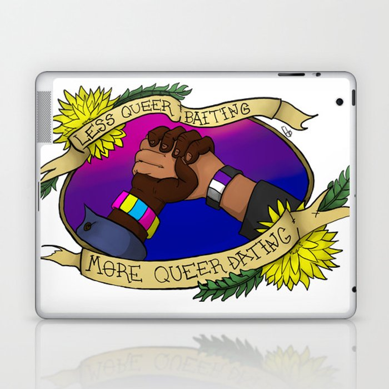 Less Queerbaiting - More Queer Dating!  Laptop & iPad Skin