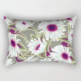 Teteaweka Daisy Floral Print Rectangular Pillow