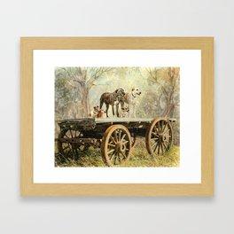 Country Dogs Framed Art Print
