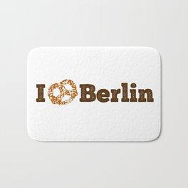I love Berlin - Brown Pretzel Bath Mat