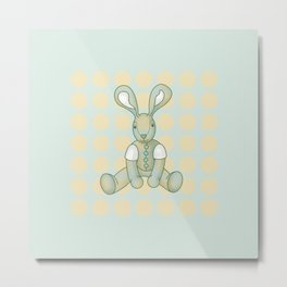 Sniffy – the Snuggly Bunny Metal Print