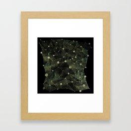 Warmth Between Darknesses Framed Art Print
