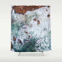 Waves Be Crashing Shower Curtain