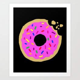 Go Nuts for Donuts Art Print
