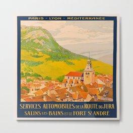 Vintage poster - Route du Jura, France Metal Print