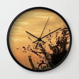 shadows at the sunset Wall Clock