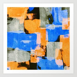 Abstract On Canvas <!><!> Art Print