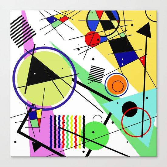 Retro Crazy - Abstract, random, crazy, geometric, colourful artwork Canvas Print