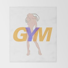GYM Woman 4 Throw Blanket