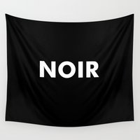 noir Wall Tapestries featuring Noir by Unicity