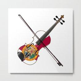 Florida Fiddle Metal Print