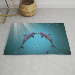 dolphins love Rug
