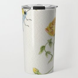 The Rose and the Butterfly Travel Mug