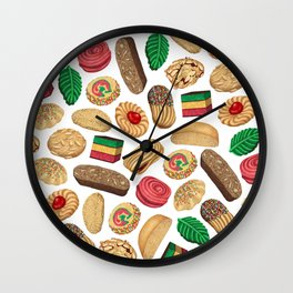 Italian Cookie Pattern Wall Clock