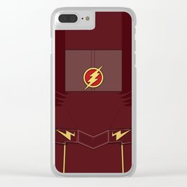 Superheroes phone   The Flash #1 version Clear iPhone Case