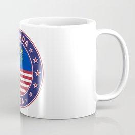 Nevada, USA States, Nevada t-shirt, Nevada sticker, circle Coffee Mug