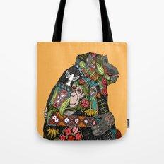 chimpanzee love Tote Bag