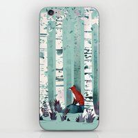 autumn iPhone & iPod Skins featuring The Birches by littleclyde