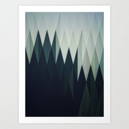 Diamond Forest Art Print