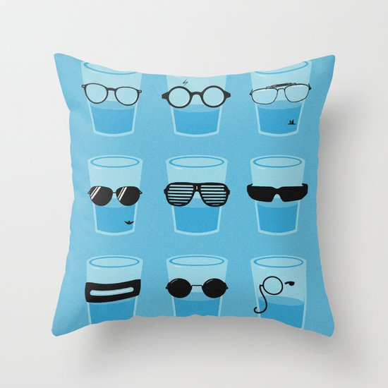 Glasses Throw Pillow