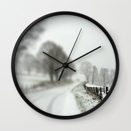 cold fence Wall Clock