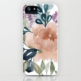 Fall Flowers + Leaves iPhone Case