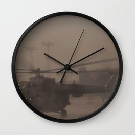 Russian Search and Rescue teams deploy by helicopter from Karaganda Kazakhstan Wall Clock