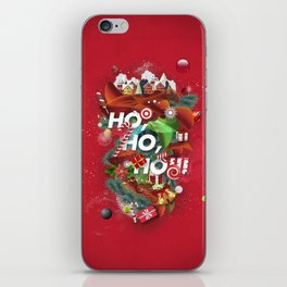 Merry Xmas Red iPhone Skin