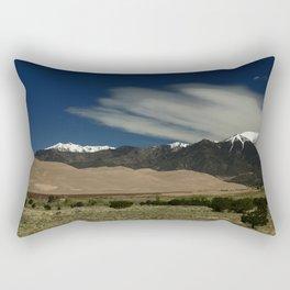 High Mountains and Sand Dunes Rectangular Pillow
