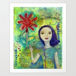 Invisible Crown by patsy paterno Art Print