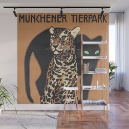 1912 Munich Zoo Green-Eyed Leopold Vintage Advertising Poster Wall Mural
