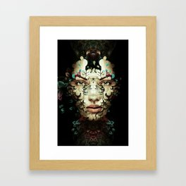 Worming Portrait Case Framed Art Print